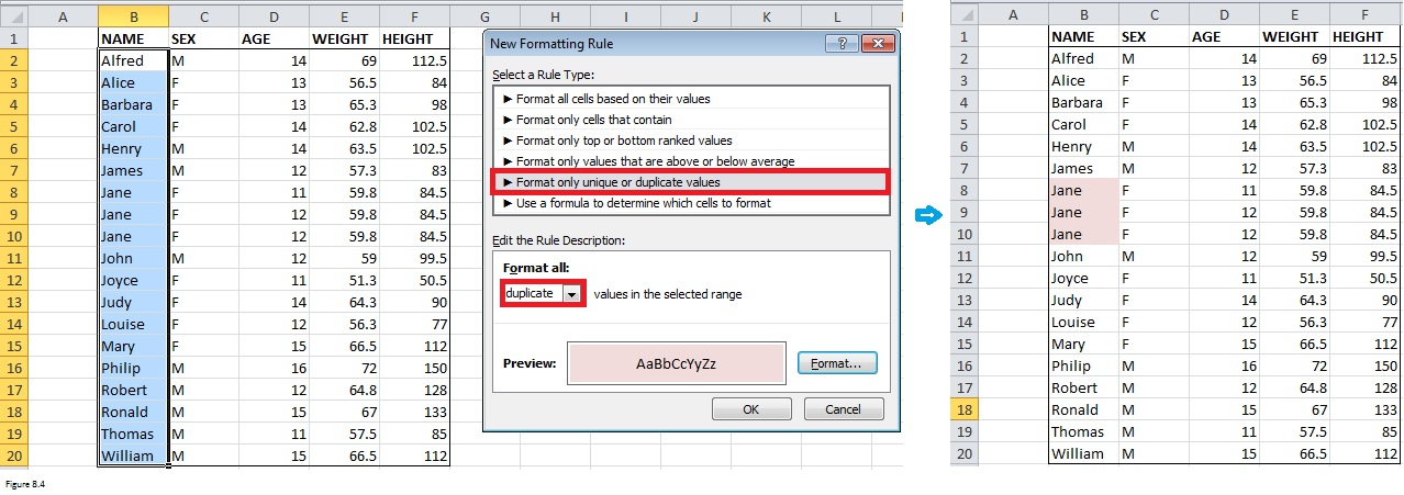 Top Excel Functions and Features for Management Consultants Figure 8.4
