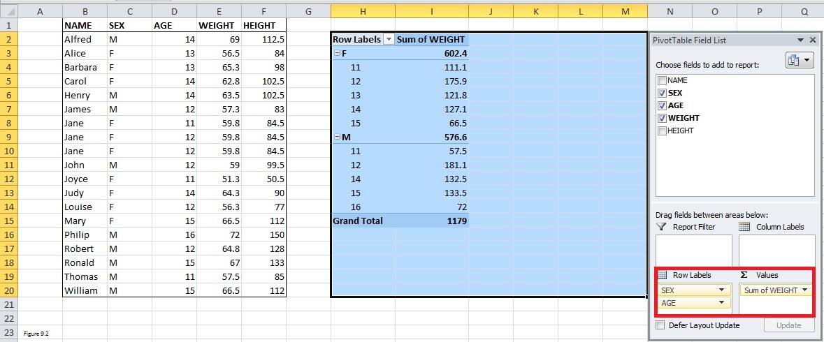 Top Excel Functions and Features for Management Consultants Figure 9.2