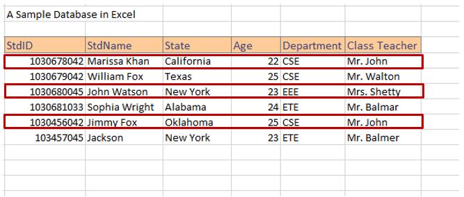 Database creation steps in Excel image 6