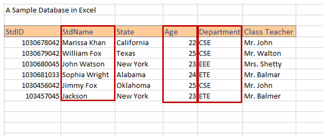 Database creation steps in Excel image 7