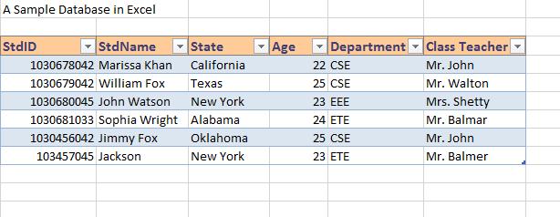 Database creation steps in Excel image 9