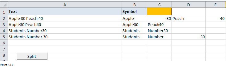 Excel Substring Functions Figure 4.11