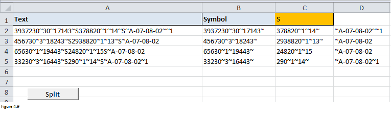 Excel Substring Functions Figure 4.9