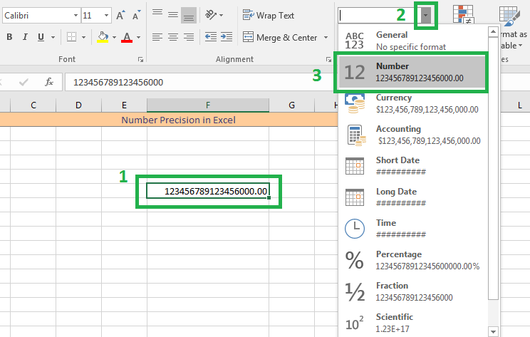Turn off Auto Scientific Notation, Excel