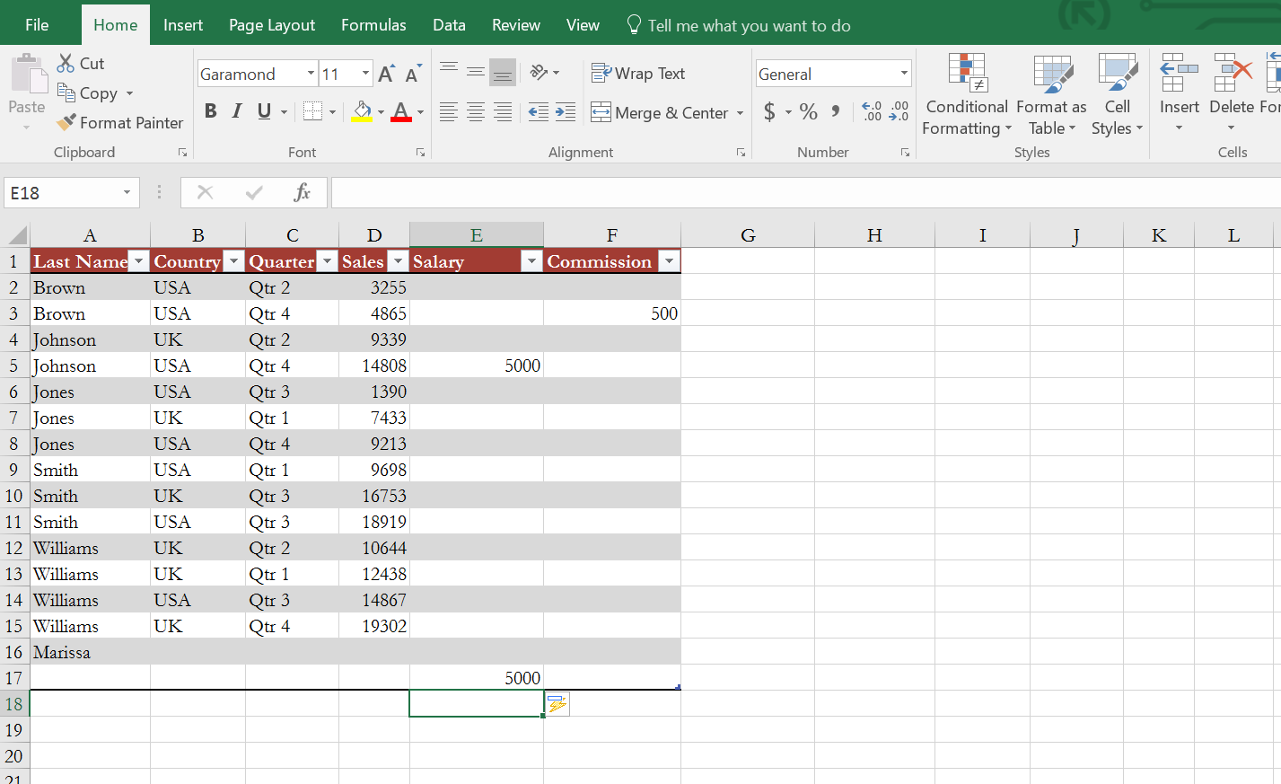 Remove column from Excel table