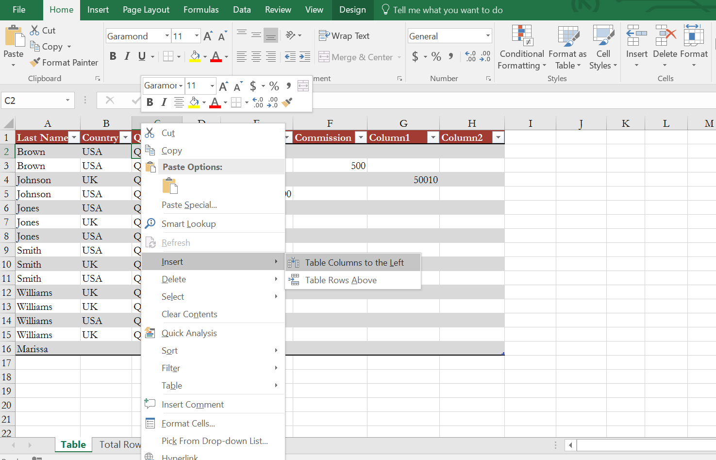 How to insert or delete rows and columns from excel table exceldemy - How to add a column in a table ...