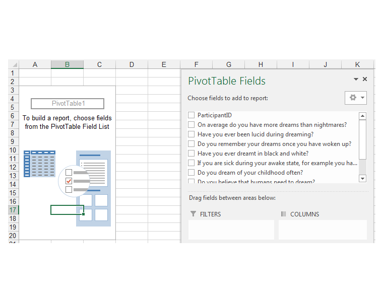 PivotTable Fields Task Pane