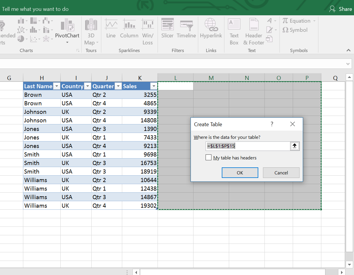 Creating Excel Table From Blank Range How To Calculate Finding The Median  Class