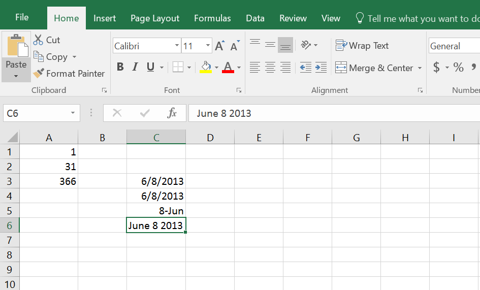 how to change text date to date format in excel