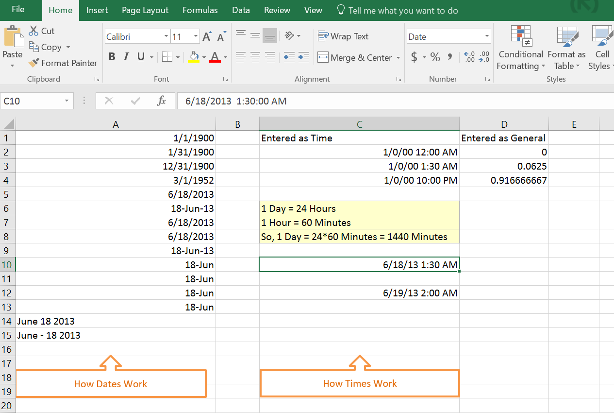 date  u0026 time in excel  u2013 how to enter them in cells