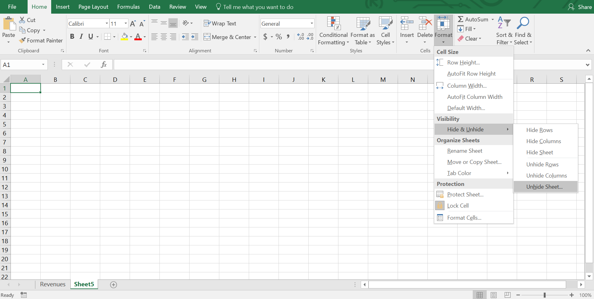 Hide and Unhide Excel Worksheets from a Workbook – Unhide Worksheet