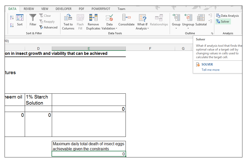 Excel, Solver, How to Use, What If Analysis