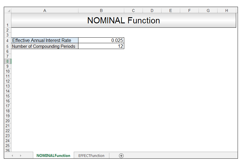 Nominal vs Effective Excel Formulas Image 3