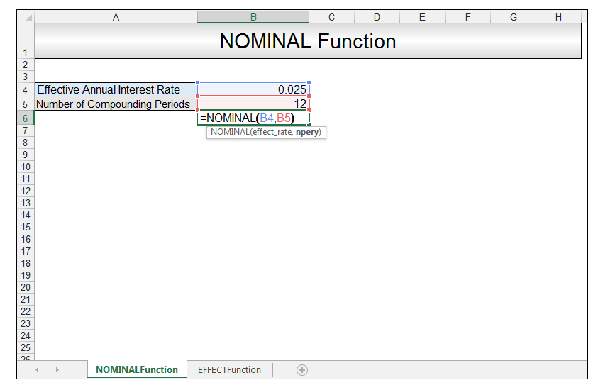 Nominal vs Effective Excel Formulas Image 4