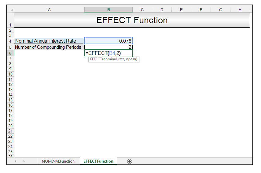 Nominal vs Effective Excel Formulas Image 6