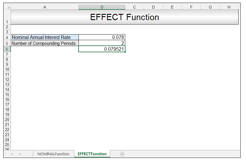 Nominal vs Effective Excel Formulas Image 7
