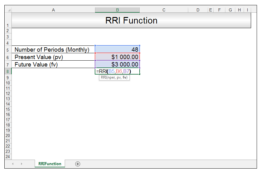 RRI Function in Excel Image 3