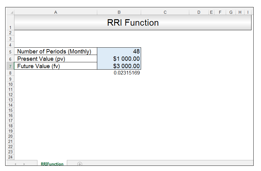 RRI Function in Excel Image 4