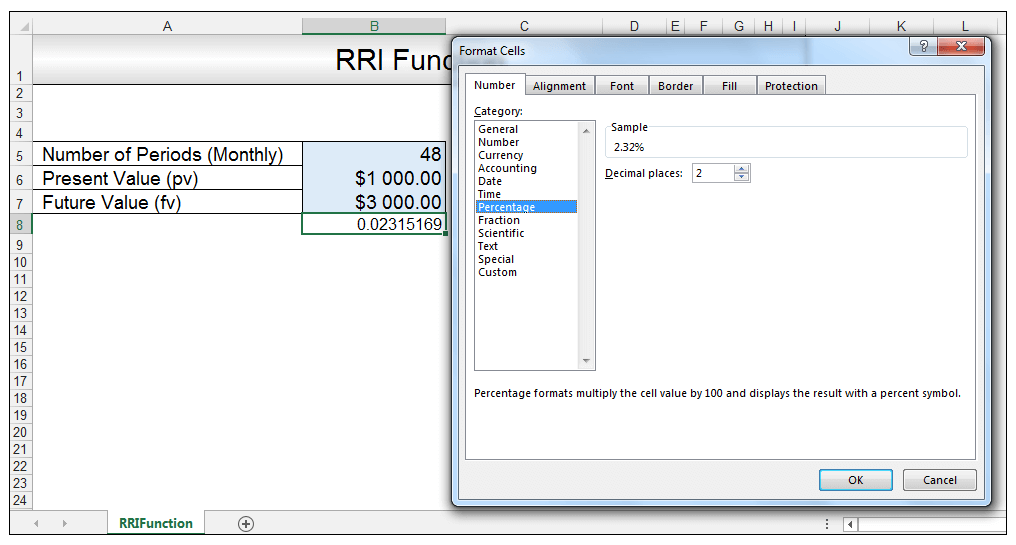 RRI Function in Excel Image 5