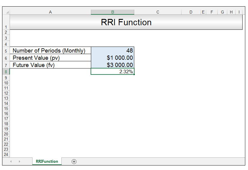 RRI Function in Excel Image 6