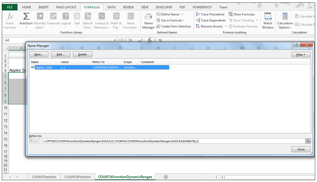 Excel COUNTA Function Image 8