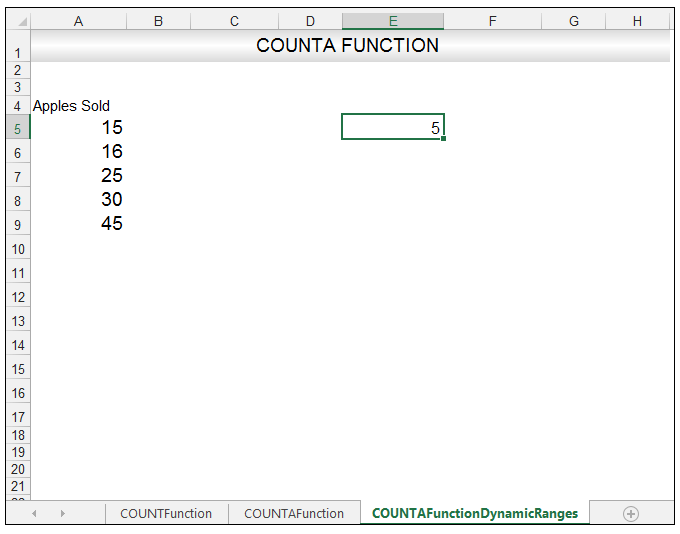 Excel COUNTA Function Image 10