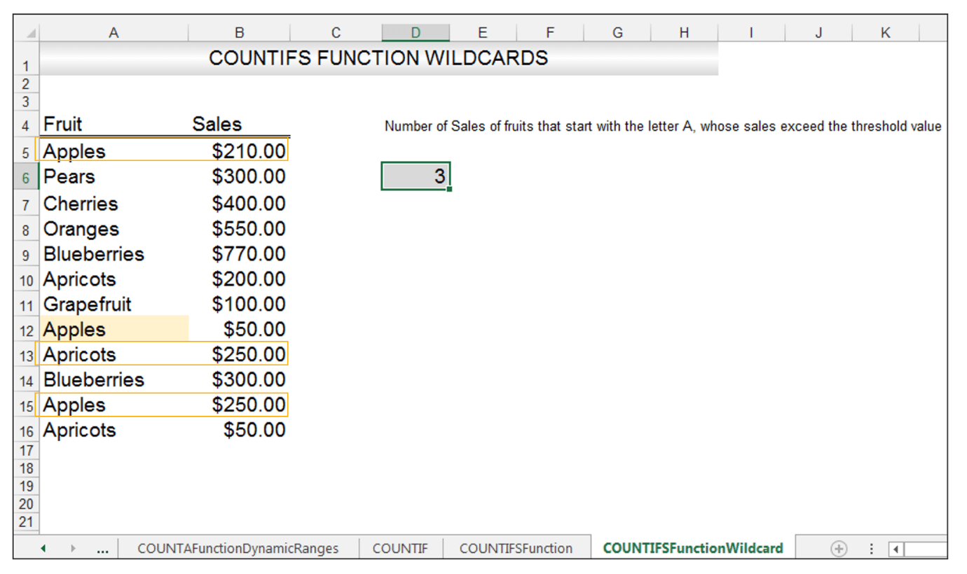 Excel COUNTIFS Function Image 5