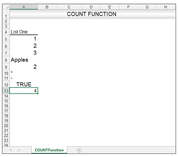 Excel Count Function Image 3
