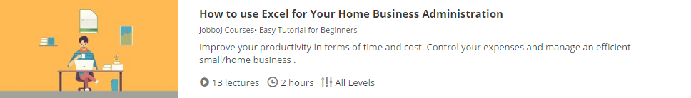 How to use Excel for Your Home Business Administration  Udemy