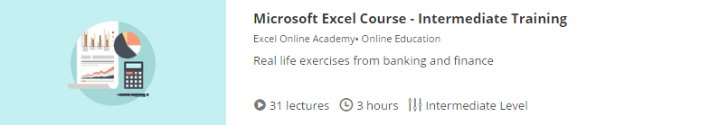 free ms excel course