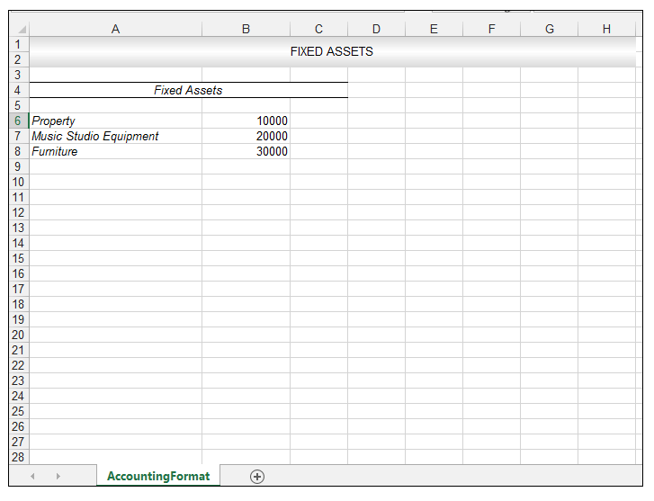 How to apply accounting number format in excel - Image 1