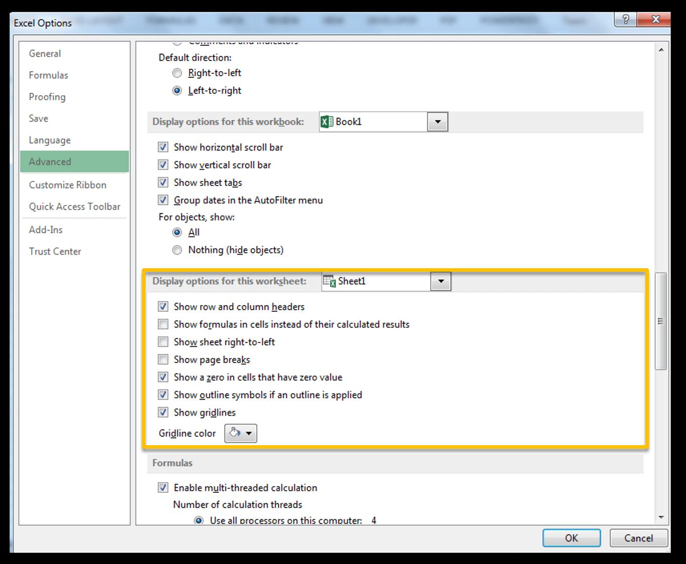 Change grid line colors in Excel - Image 3