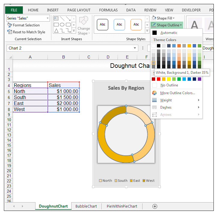 Doughnut Chart in Excel - Image 10