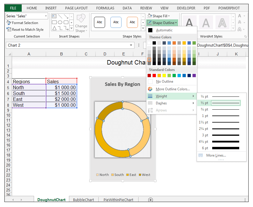 Doughnut Chart in Excel - Image 11