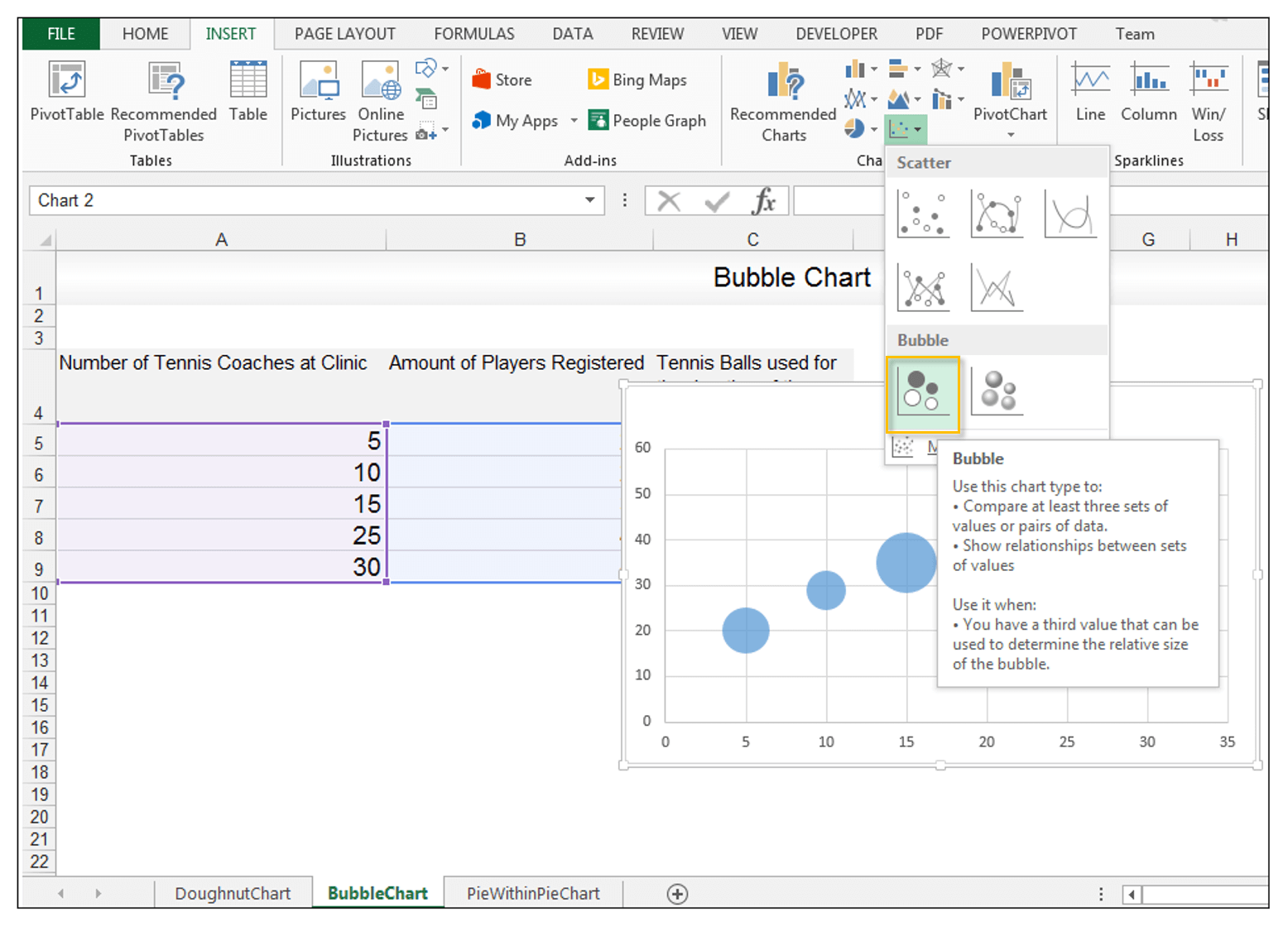 Bubble Chart in Excel - Image 3