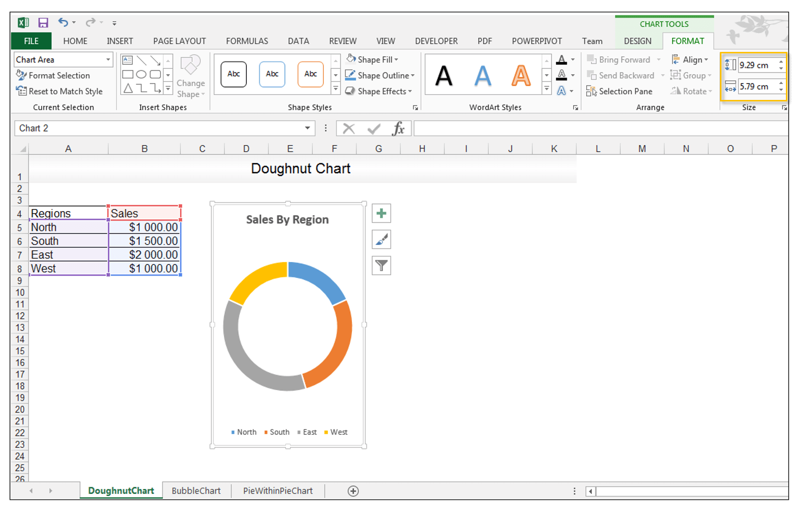 Doughnut Chart in Excel - Image 5