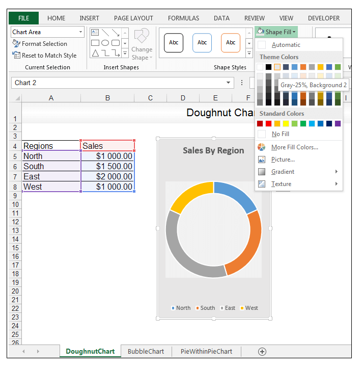 Doughnut Chart in Excel - Image 7