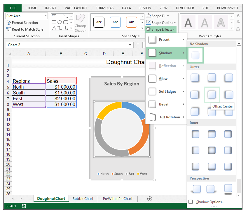 Doughnut Chart in Excel - Image 8