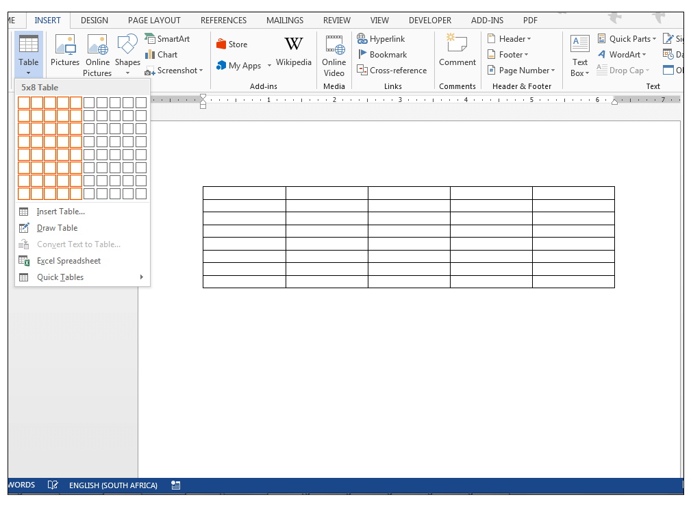 how to create a drop down table in excel