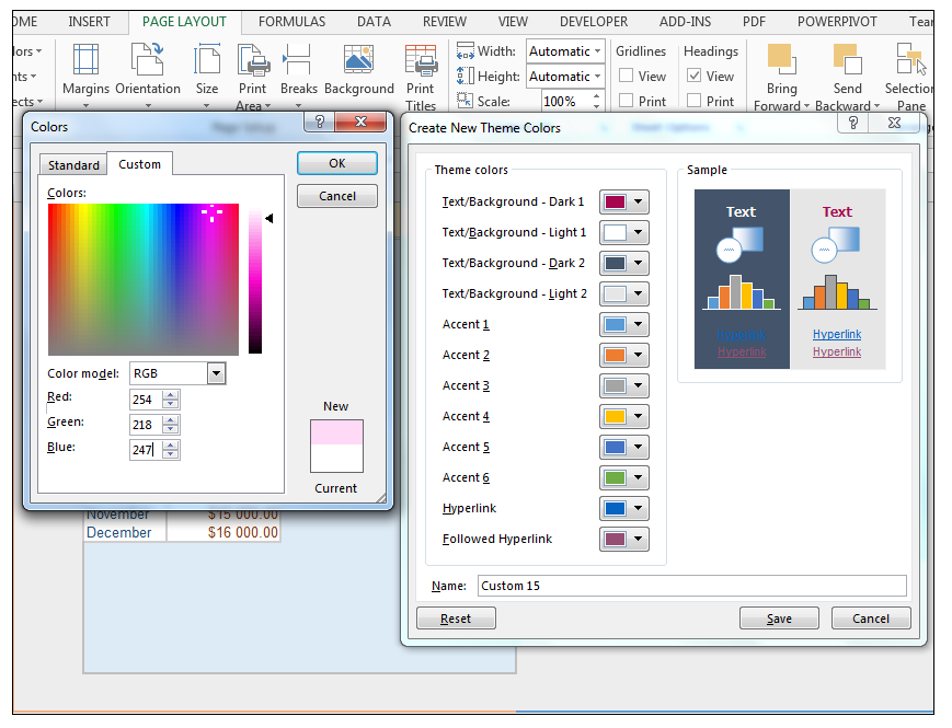 How to modify theme color, font, & effects & create custom Excel theme!