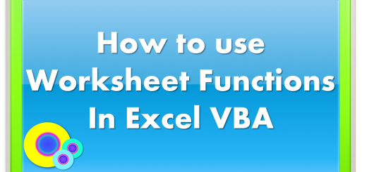 How to Create Custom VBA functions and Use them in the Worksheet – Excel Vba Worksheet Function
