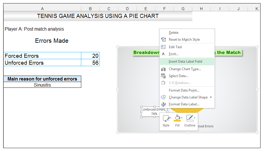 Add rich data labels to Excel Pie Chart Image 35