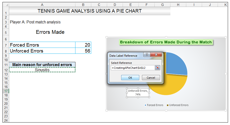 Add rich data labels to Excel Pie Chart Image 37