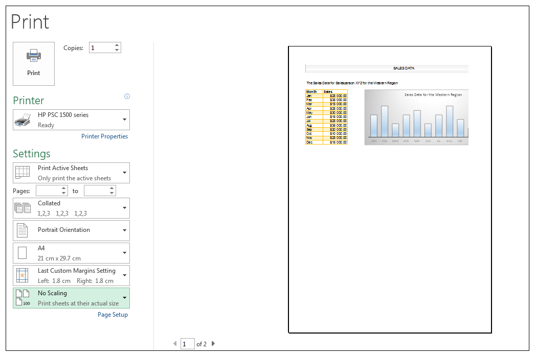 Print Preview in Excel Image 11