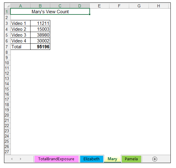 3D Referencing in Excel - Image 2