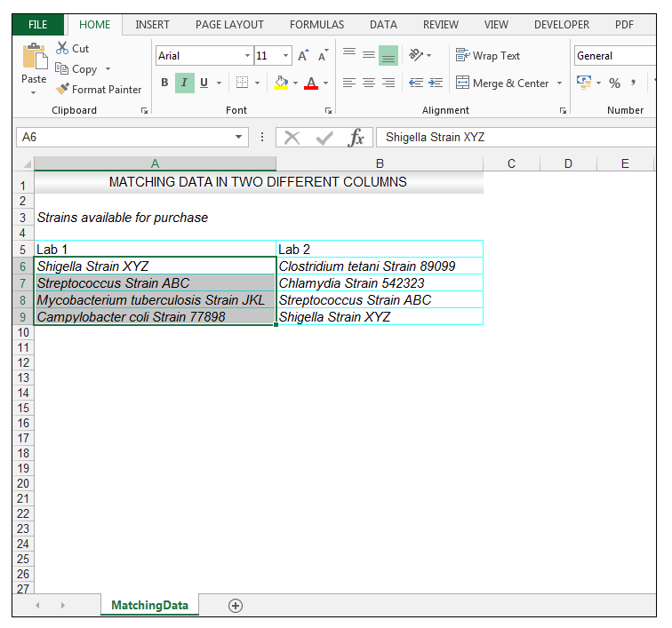 How to Compare Two Columns in Excel to Find Differences with formulas - Image 4