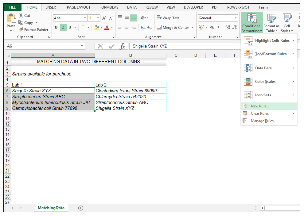 How to Compare Two Columns in Excel to Find Differences | ExcelDemy