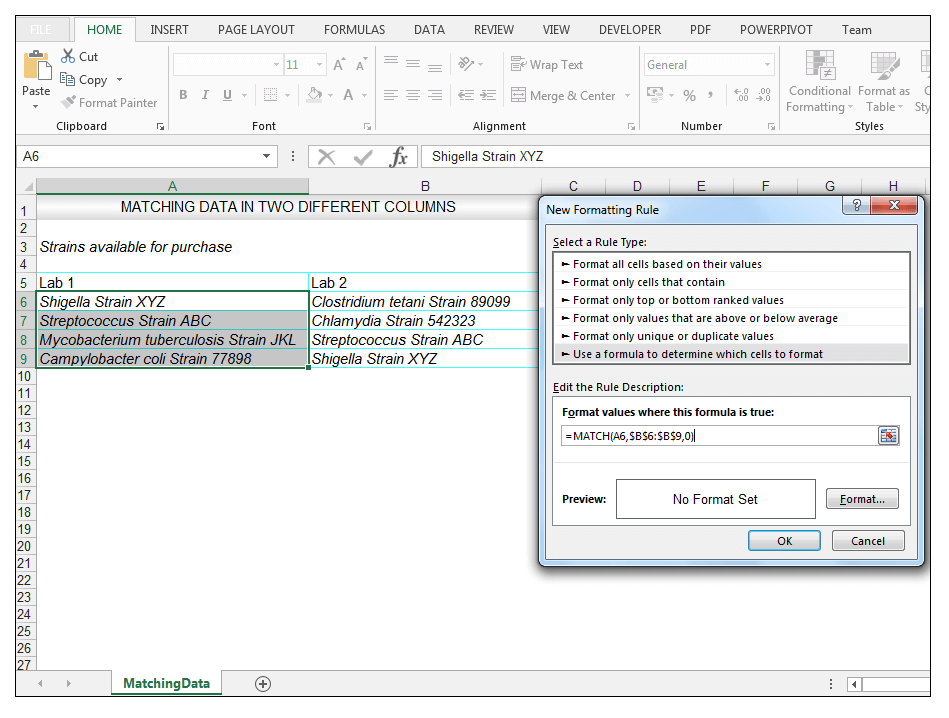 How to Compare Two Columns in Excel to Find Differences with formulas - Image 6
