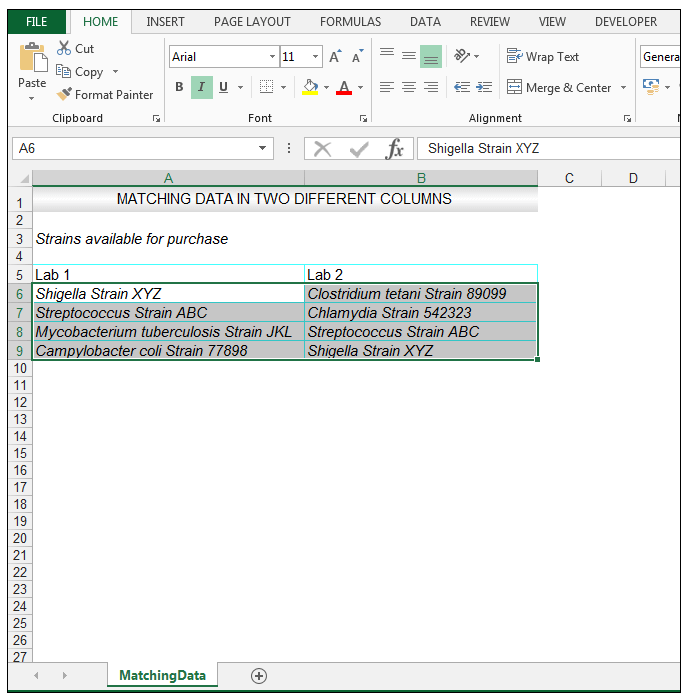 How to Compare Two Columns in Excel to Find Differences - Image 2