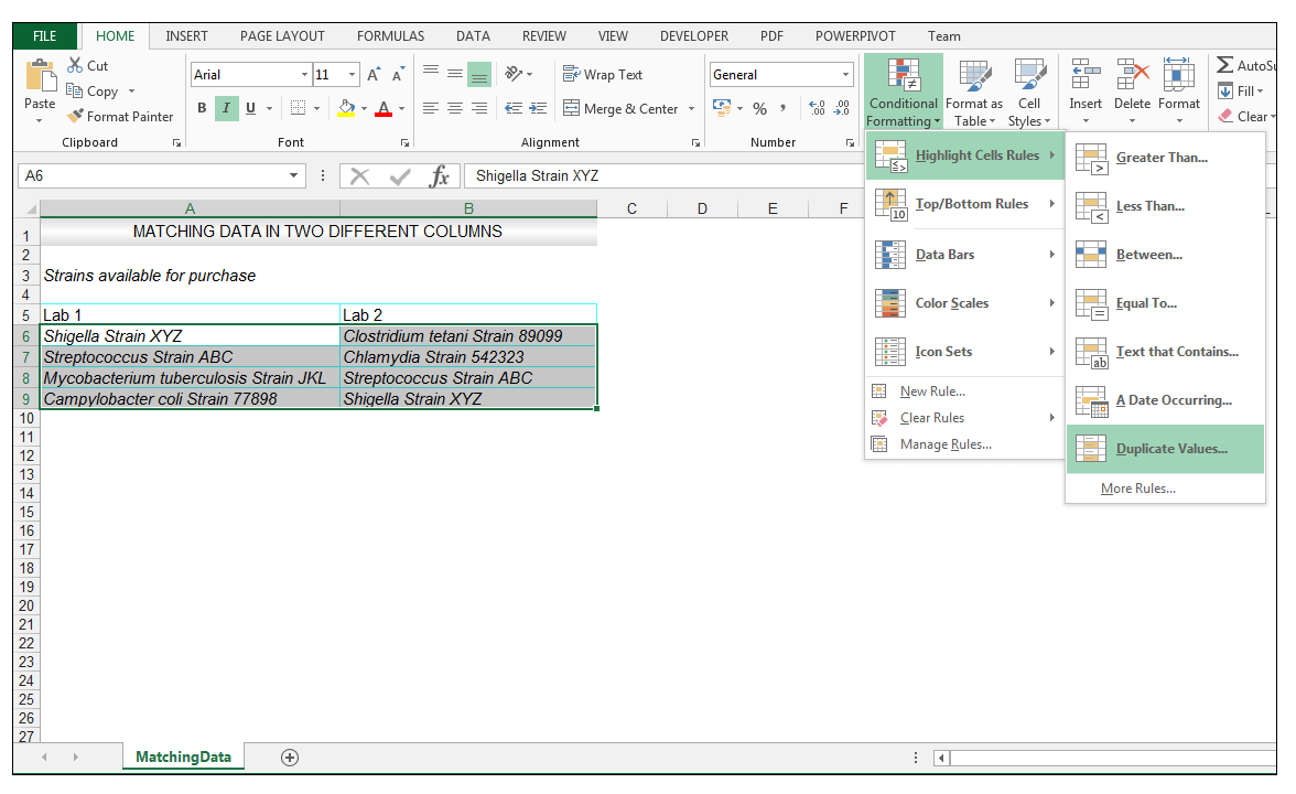 How to Compare Two Columns in Excel to Find Differences - Image 4